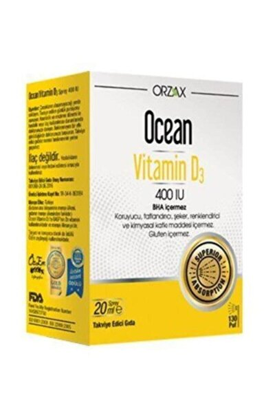 Orzax Vitamin D3 400'Iu Sprey 20ml