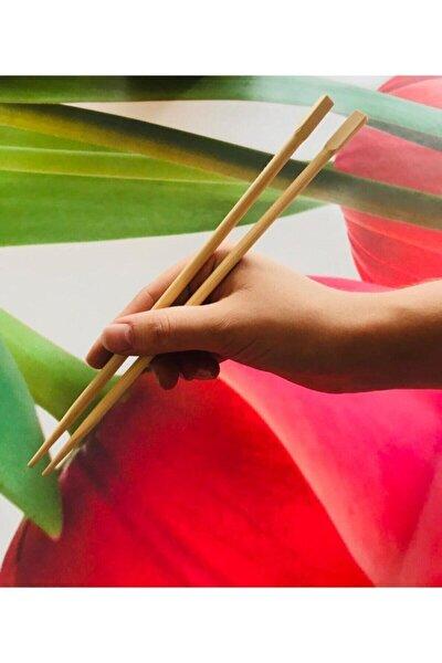 Bamboo Chopsticks 2'li Yıkanabilir Çin Yemek Çubuğu