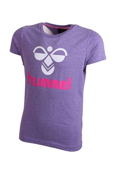 Mor Kız Çocuk Almına Kısa Kollu Tişört
