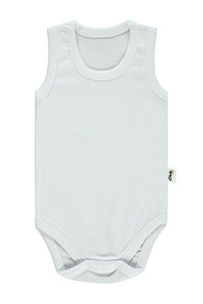Unisex Bebek Beyaz Çıtçıtlı Body