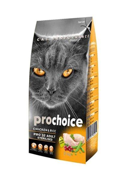 Pro Choice 32 Tavuklu Ve Pirinçli Düşük Tahıllı Kısırlaştırılmış Kedi Maması 15kg