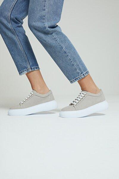 Kadın Bej Süet Sneaker