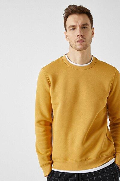 Erkek Hardal Sweatshirt 1KAM71069LK