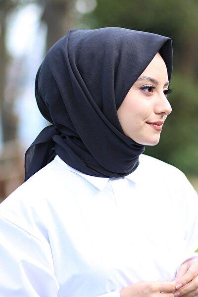 Kadın Siyah Cotton Pamuk Eşarp Ck02