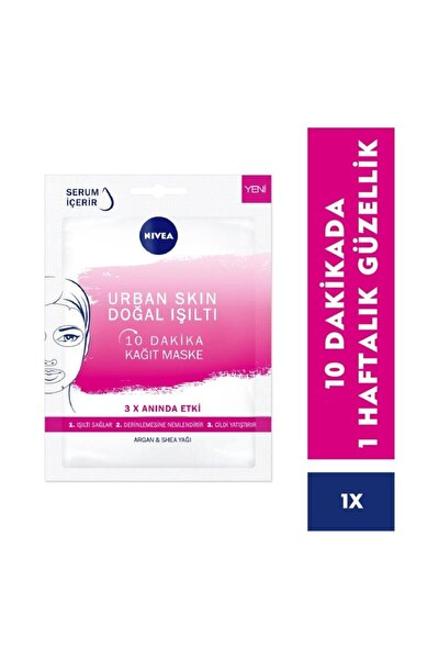 10 Dakika Urban Skin Doğal Işıltı Kağıt Yüz Maskesi