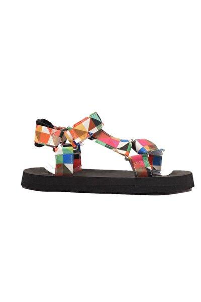 Çok Renkli Kadın Sandalet TAKSS21SD0028