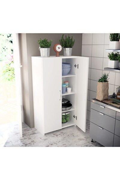Beyaz Çok Amaçlı Mutfak Hol Banyo Balkon Ofis Dolap