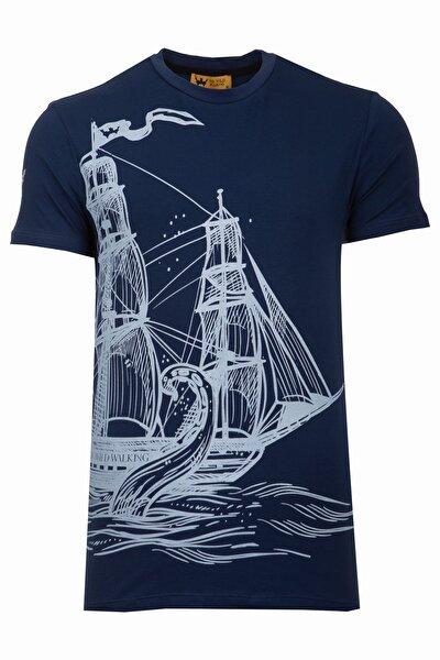 Thewıldwalkıng %100 Pamuk Erkek Sıfır Yaka T-shirt