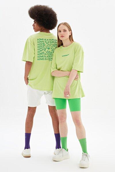 Yeşil Unisex Oversize T-Shirt TMNSS21TS3344
