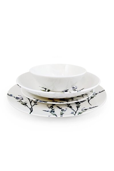 Chi Chi Lavender Pino 24 Parça Porselen Yemek Takımı