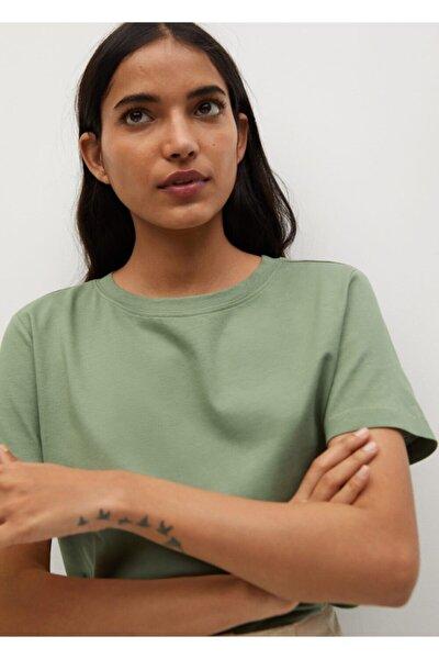 Kadın Organik Pamuklu Basic Tişört