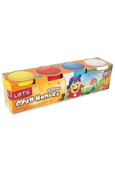 Lets Oyun Hamuru Normal Renkler 4 Renk 600 G ( Kırtasiye)