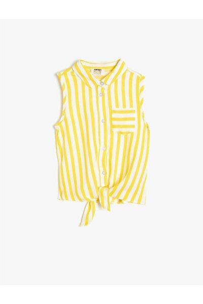 Kız Çocuk Sarı Çizgili Gömlek