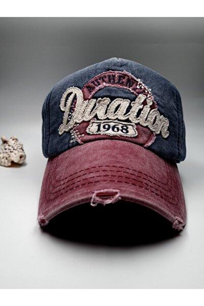 Unisex Yıkanabilir Eskitme Kot Şapka