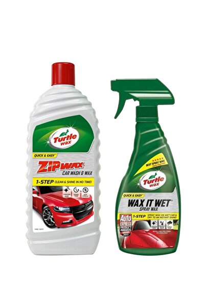 Hızlı Cila 500 ml + Zip Wax Cilalı Oto Yıkama Şampuanı 1 L