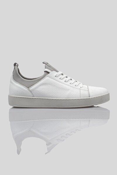 Beyaz Hakiki Deri Erkek Günlük Ayakkabı