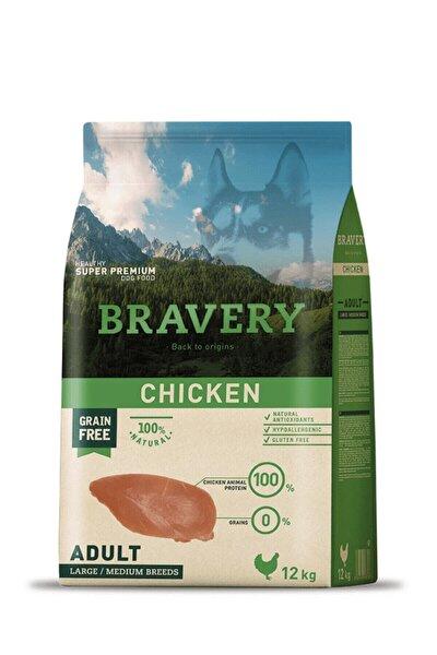 Bravery Tahılsız Tavuklu Büyük Ve Orta Irk Yetişkin Köpek Maması 12 Kg