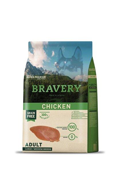 Bravery Adult Chicken Tahılsız Tavuklu Büyük Ve Orta Irk Yetişkin Köpek Maması 4 kg