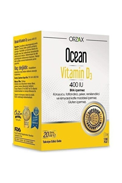 Ocean Vitamin D3 400ıu 20 ml Sprey