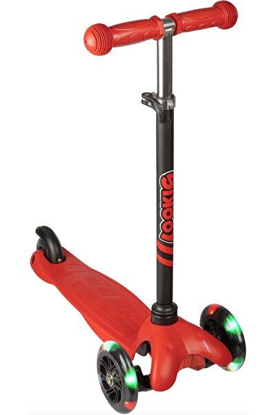 Kırmızı 3 Tekerlekli Işıklı Scooter