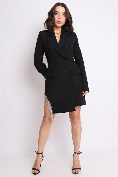 Taş Detay Blazer Ceket