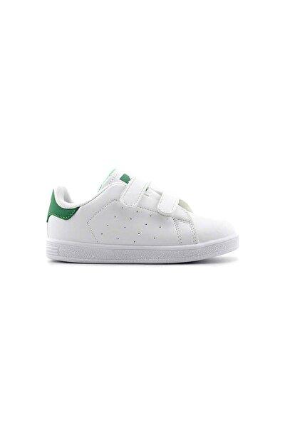 19422 Unisex Çocuk Spor Ayakkabı (22-25) - Beyaz - Yeşil 24