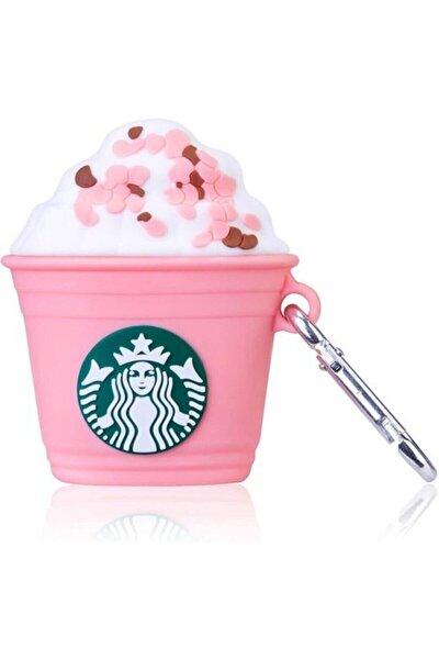 Airpods 1. ve 2. Nesil Uyumlu Sevimli Starbucks Pembe Kılıf