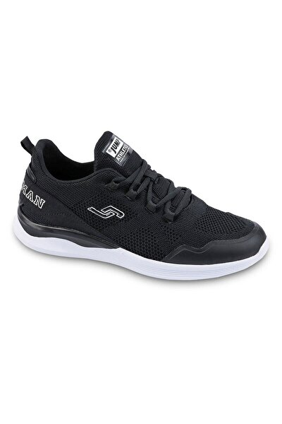 24797 Merdane Spor Siyah Beyaz Siyah Beyaz Ayakkabı