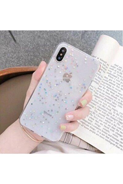 Apple Iphone Xr Şeffaf Simli Silikon Telefon Kılıfı