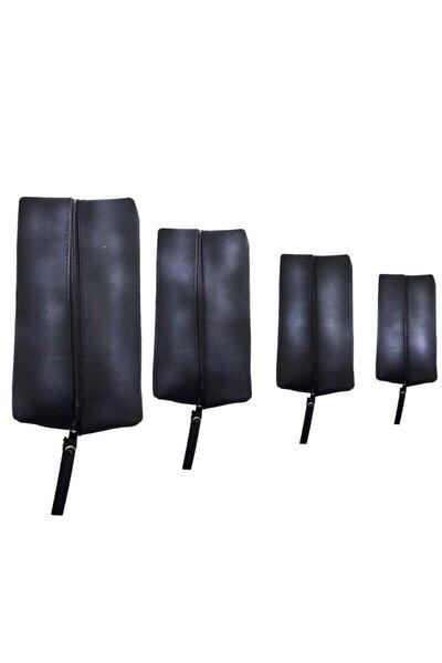 Siyah Matruşka Deri Çanta Set 4'lü
