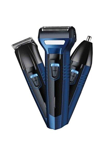 Alk-566 3in1 Blue Profesyonel Saç Sakal Traş Makinesi