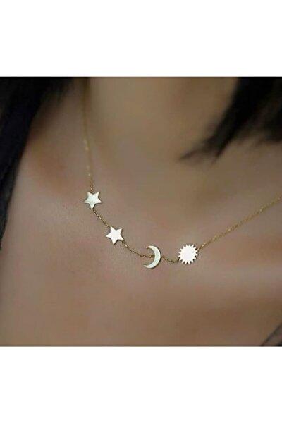 Yıldız Güneş Kolye 925 Ayar Gümüş