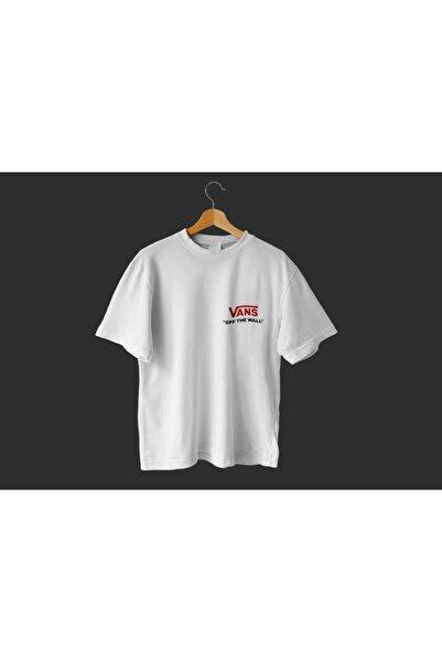 Unisex Beyaz Oversize T-shirt