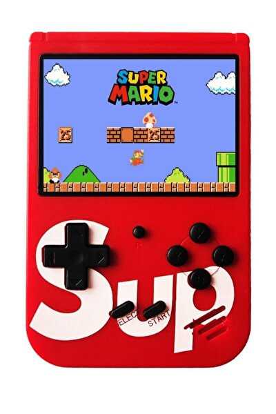 Kırmızı 400 Nostalji Oyunlu Mini Atari Gameboy & Gamebox Oyun Konsolu