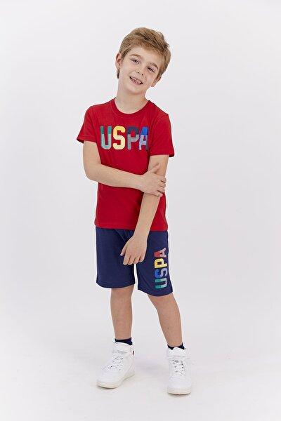 Erkek Çocuk Lisanslı Kırmızı  Bermuda Takım