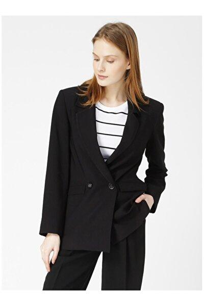 Erkek Siyah Düğmeli Ceket