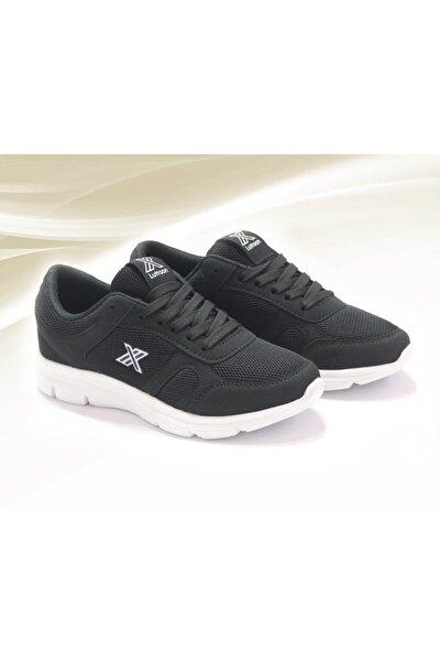 Unısex Siyah Tam Ortopedik Günlük Yazlık Spor Ayakkabı