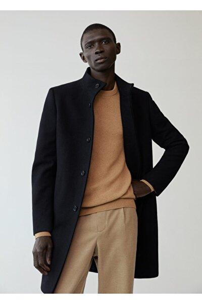 Erkek Siyah Yün Palto