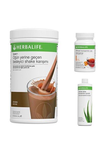 1 Adet Shake, 1adet Bitkisel Konsantre Çay 50g Şeftali, 1adet Herbal Aloe Konsantre Içecek