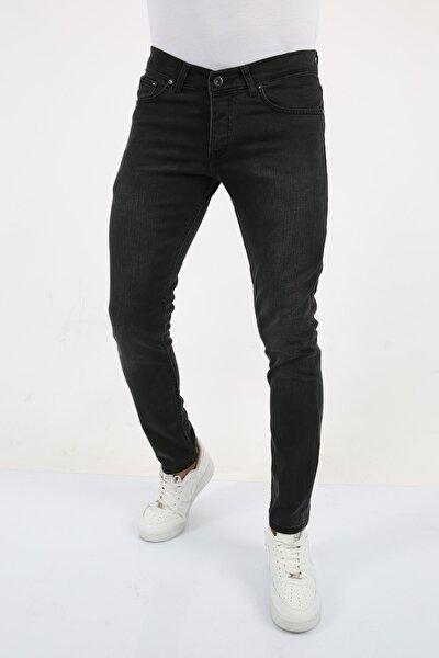 Erkek Antrasit Gri Slim Fit Jean Pantolon