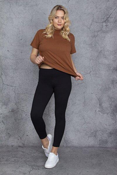 Kadın Siyah Tayt Pantolon 65N24296