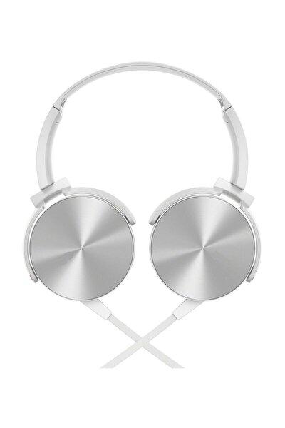 MDR-XB450 Kulak Üstü Mikrofonlu  Extra Bass Kulaklık  Telefon, Tv. Tablet Ve Gaming Uyumlu beyaz