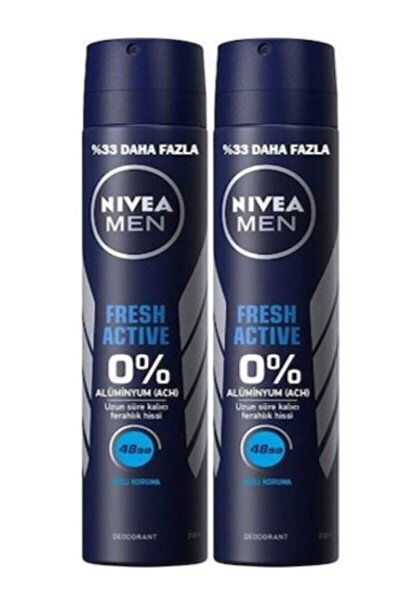 Men Fresh Active Sprey Deodorant 200 Ml X 2 Adet 40011100241021