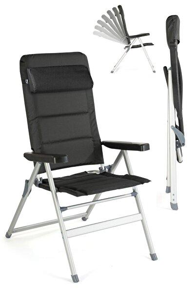 Delux Katlanır Kamp Sandalyesi 7 Kademeli Şezlong Yastıklı Ha017