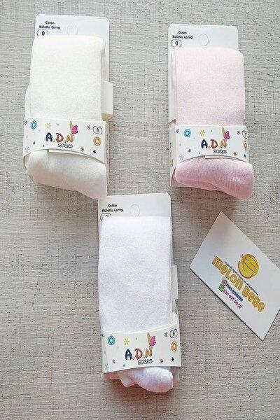 Bebek Beyaz Renk Külotlu Çorap