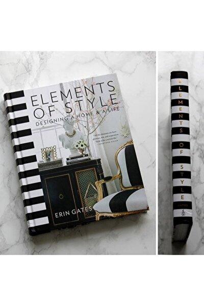 Elements Of Style Dekoratif Kitap Kutu Siyah Beyaz Erin Gates