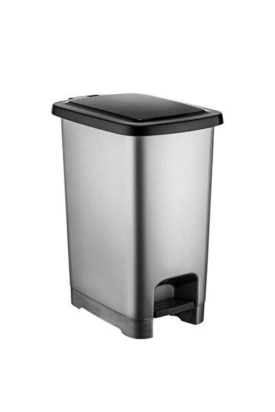 40 Lt Slim Pedallı Plastik Çöp Kovası Siyah Kapaklı 4283