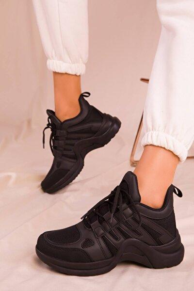 Kadın Siyah Sneaker Lw2133