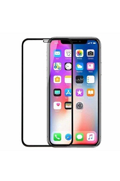 Iphone 11 Tam Kaplayan Ekran Koruyucu - 5d Darbe Emici Temperli Kırılmaz Cam - Siyah