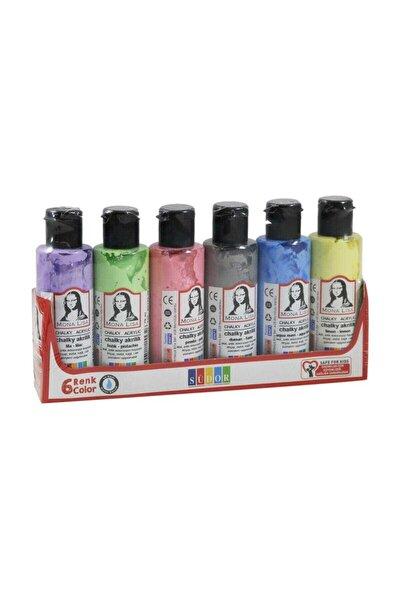 Mona Lisa Chalky Akrilik Boya 6 Pastel Renk X 70 ml Şişe